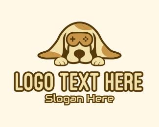 Game Stream - Brown Dog Game Controller logo design
