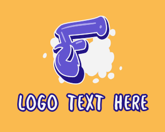 Vape Shop - Blockbuster Graffiti Letter F logo design