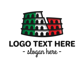 History - Italian Colosseum logo design
