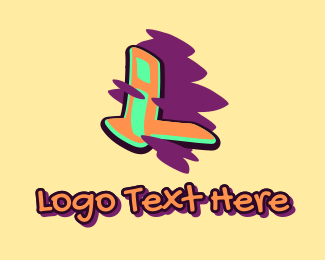 Beatbox - Graffiti Art Letter L logo design