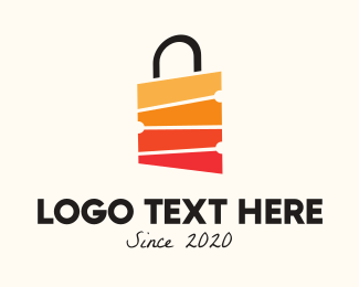 Mart - Multicolor Shopping Bag logo design