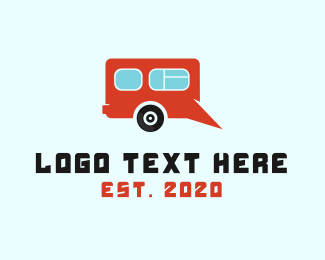 Yellow Car - Camping Van  logo design