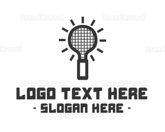 Badminton - Idea Racket logo design