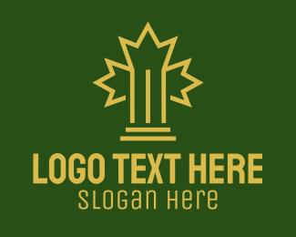 Maple - Maple Leaf Pillar logo design
