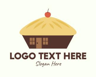 Pie - Cherry Pie Hut logo design