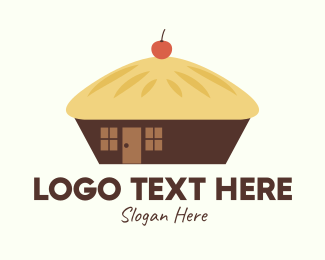 Hut - Cherry Pie Hut logo design