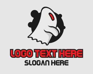 Ghost - Cute Ghost Mascot logo design
