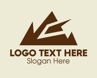 Range - Geometric Mountain Range  logo design