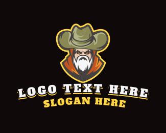 Sticker - Old Nomad Cowboy logo design