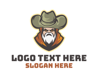 Beard - Old Nomad Cowboy logo design