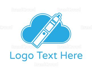"""Blue Cloud Vape"" by LogoBrainstorm"
