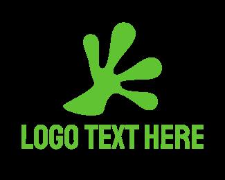 Iguana - Frog Hand logo design