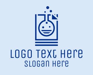 Phd - Lab Flask Document Research logo design