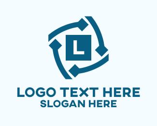 Business Solutions - Spiral Diamond Lettermark logo design