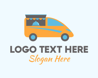 Mobile Restaurant - Food Stall Van logo design