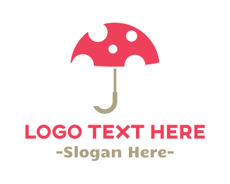 Weather - Umbrella & Mushroom logo design