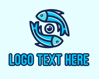 Marine Biology - Marine Fish Camera  logo design