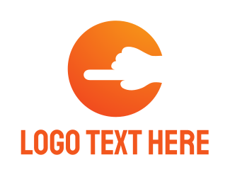Left - Index finger logo design