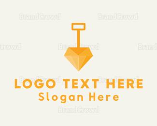 Mine - Diamond Dig logo design