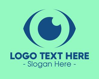 Medical Imaging - Blue Abstract Eye logo design