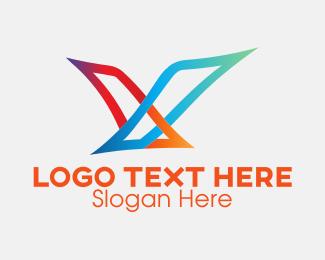 Air Courier - Soaring Bird Gradient logo design