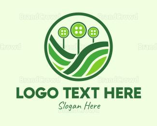 Farm - Button Farm logo design