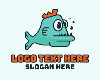 Game - Cartoon Gaming Fish logo design