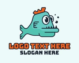 Gaming - Cartoon Gaming Fish logo design