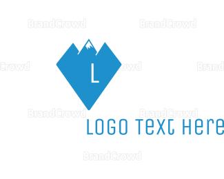 Mining - Diamond Peak Lettermark logo design