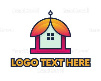 Bell - Bell Flower House logo design