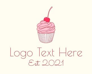 Food - Sweets Shop Line Art logo design