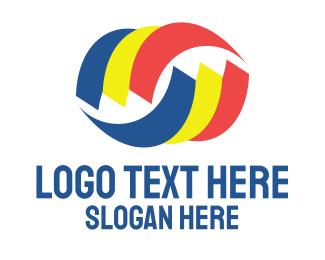 General Business - Tri Color Swoosh logo design
