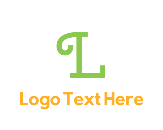 Curly - Green Curly Text logo design