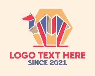 Geometrical - Geometric Camel logo design