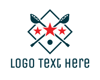 League - Lacrosse Sport Shield logo design