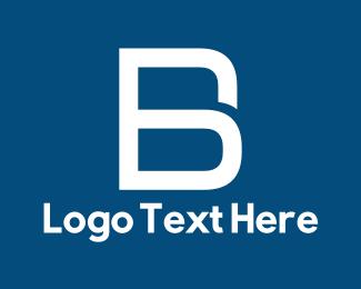 Text - White Letter B logo design