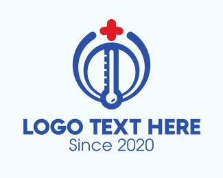 Medical Center - Medical Thermometer logo design