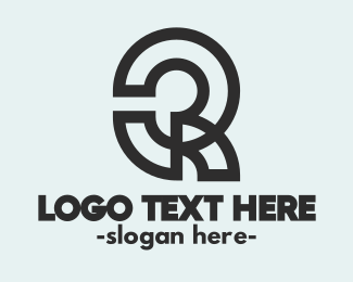 Typography - Abstract Q Outline logo design