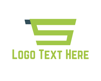 Trolley - Green Shopping Cart  logo design