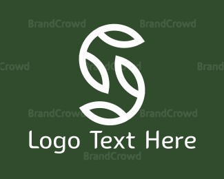 Sprout - White Leaves logo design