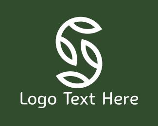 Root - White Leaves logo design