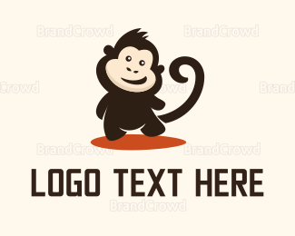 Cheeky - Happy Monkey logo design