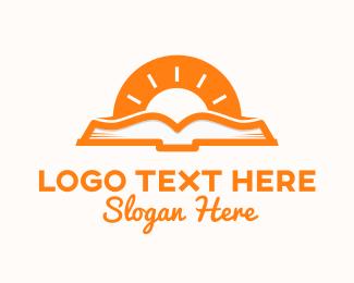 Learning - Sunshine Book logo design