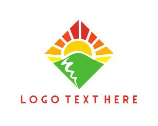 Day - Diamond Sunset logo design