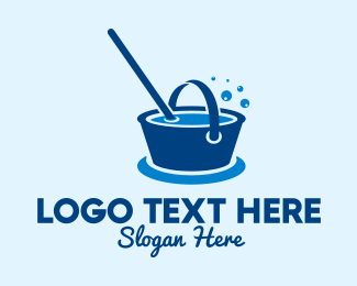 Bucket - Cleaning Water Bucket  logo design
