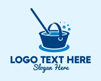 Hygiene - Cleaning Water Bucket logo design