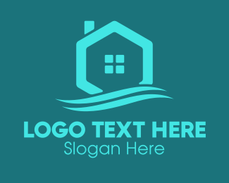 Roofing Service - Hexagon Wave Realty logo design