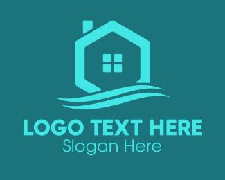 Chimney - Hexagon Wave Realty logo design