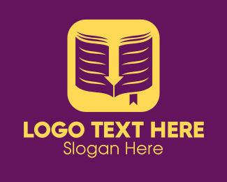 Literacy - Yellow Elegant Ebook Application logo design
