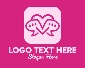 Date - Love Message Dating App logo design